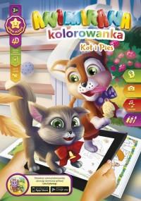 Kolorowanka A4/8 4D Kotek i Piesek - okładka książki
