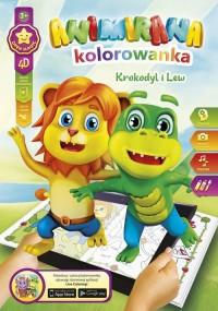 Kolorowanka A4/8 4D Lew I Krokodyl - okładka książki