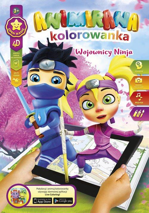 Kolorowanka A4/8 4D Ninja - okładka książki