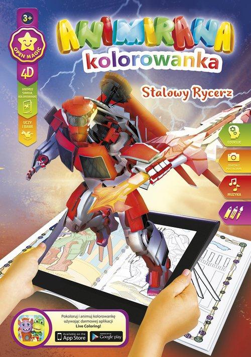 Kolorowanka A4/8 4D Stalowy Rycerz - okładka książki