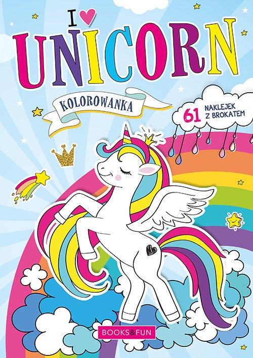 Kolorowanka Unicorn z naklejkami - okładka książki