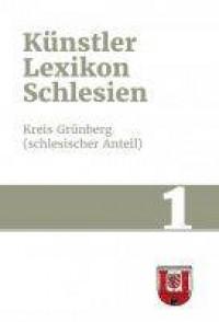 Künstlerlexikon Schlesien, Band - okładka książki