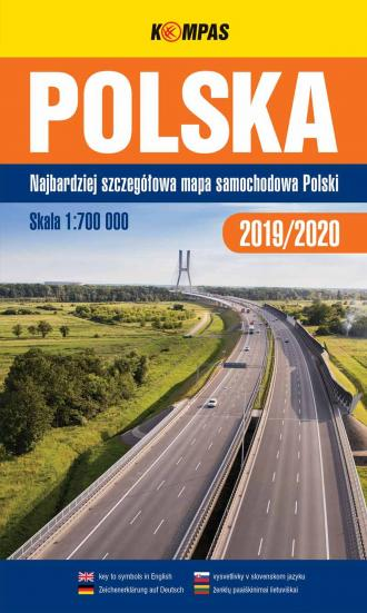 Polska 2019/2020 mapa samochodowa - okładka książki