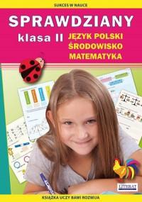Sprawdziany. Język polski, środowisko, matematyka. Klasa 2 - okładka podręcznika