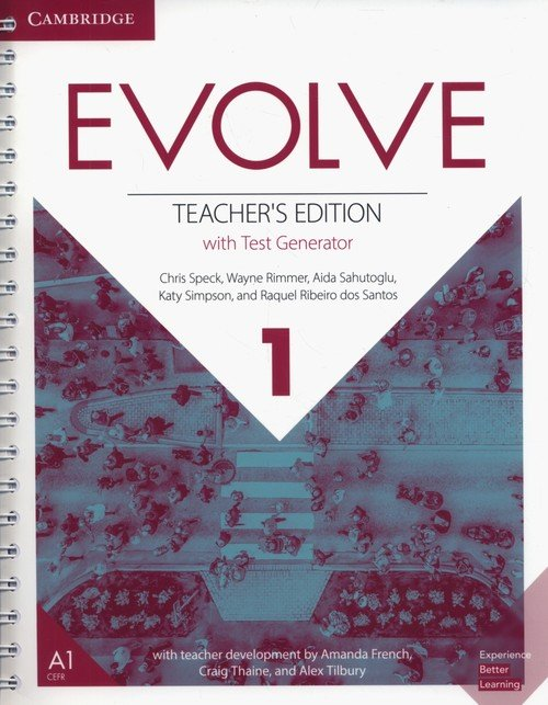 Evolve  1 Teachers Edition with - okładka podręcznika