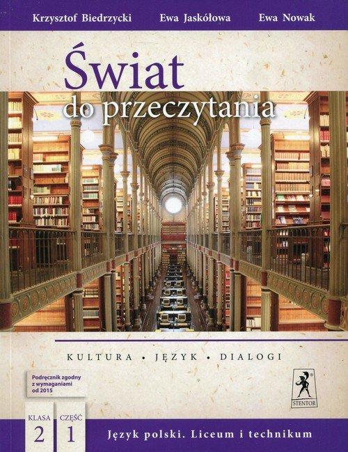 J.Polski LO Świat do przeczytania - okładka podręcznika