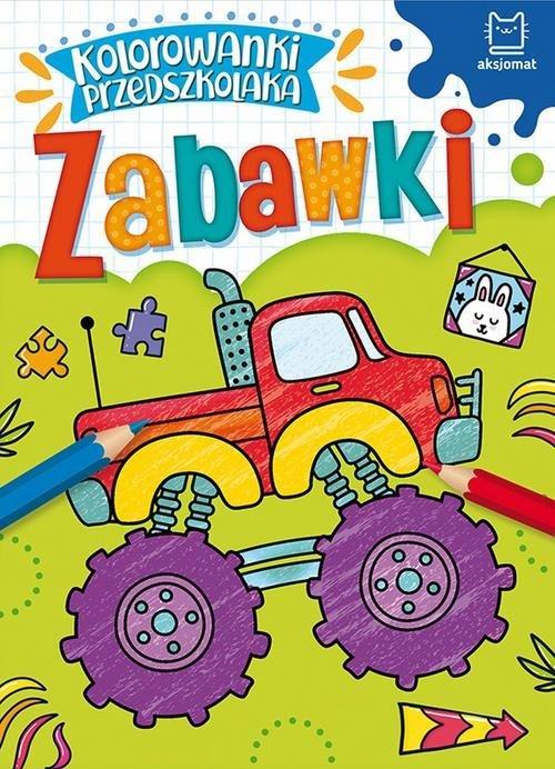 Kolorowanki przedszkolaka. Zabawki - okładka książki