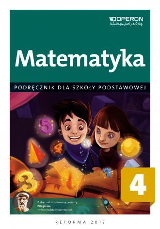 Matematyka. Klasa 4. Szkoła podstawowa. - okładka podręcznika