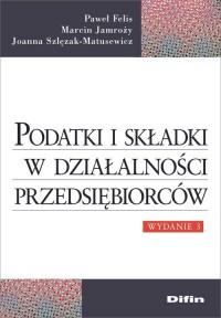 Podatki i składki w działalności - okładka książki