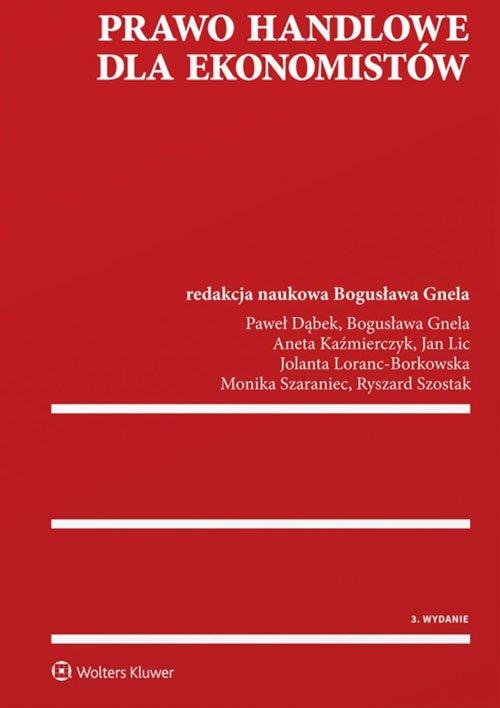 Prawo handlowe dla ekonomistów - okładka książki