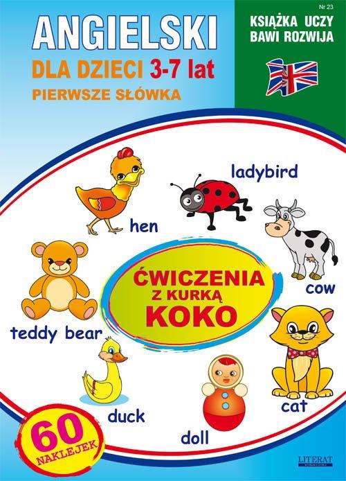 Angielski dla dzieci 23. Pierwsze - okładka podręcznika