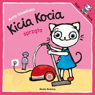 Kicia Kocia sprząta - okładka książki
