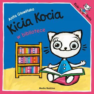 Kicia Kocia w bibliotece - okładka książki