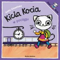 Kicia Kocia w pociągu - okładka książki