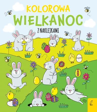 Kolorowa Wielkanoc z naklejkami - okładka podręcznika