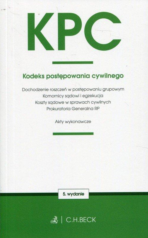 KPC oraz ustawy towarzyszące - okładka książki