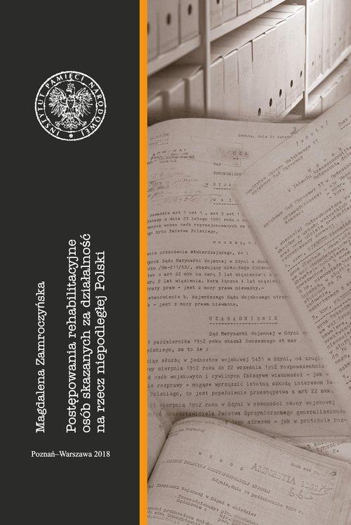 Postępowania rehabilitacyjne osób - okładka książki