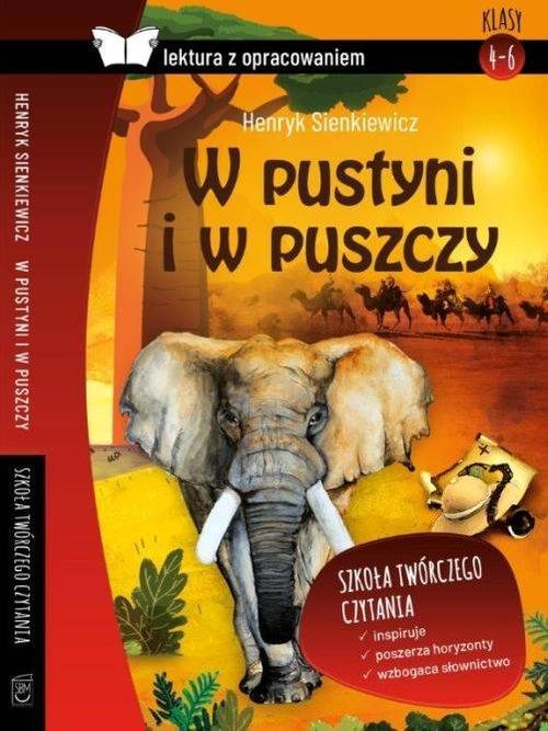 W pustyni i w puszczy (z opracowaniem) - okładka podręcznika