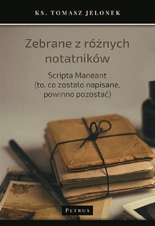Zebrane z różnych notatników. Scripta - okładka książki