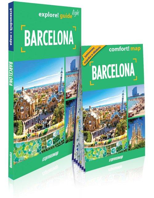 Barcellona light. Przewodnik + - okładka książki