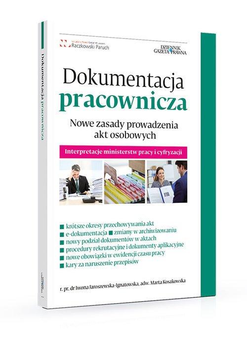Dokumentacja pracownicza. Nowe - okładka książki