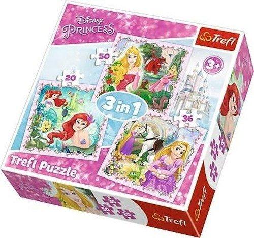 Puzzle 3w1 Disney. Księżniczki. - zdjęcie zabawki, gry