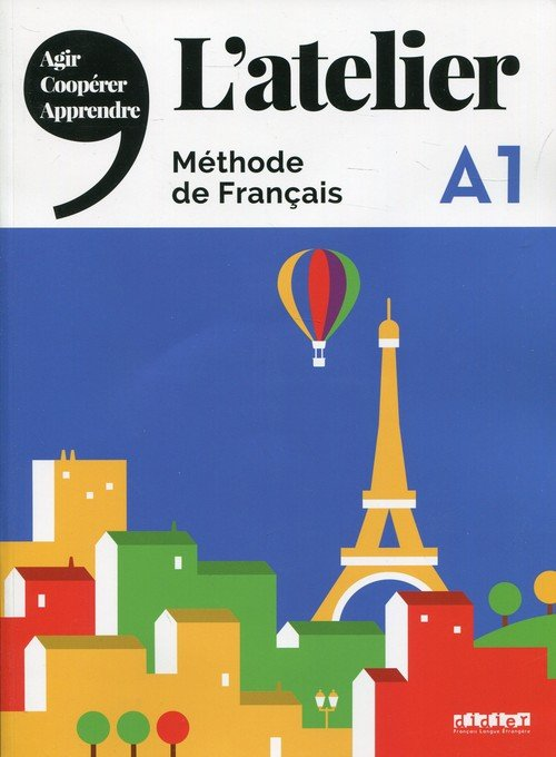 Atelier A1. Podręcznik (+ DVD-ROM) - okładka podręcznika