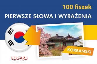 Koreański. 100 fiszek. Pierwsze - okładka podręcznika