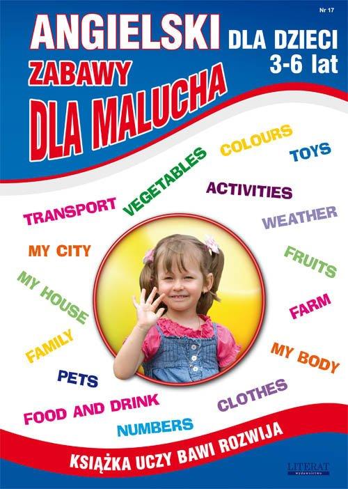 Angielski dla dzieci 3-6 lat. Zabawy - okładka podręcznika