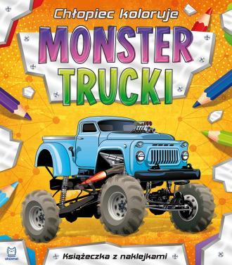 Chłopiec koloruje. Monster trucki - okładka książki