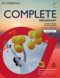 Complete Preliminary Students Book - okładka podręcznika