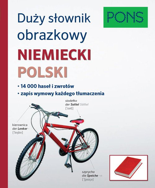 Duży słownik obrazkowy. Niemiecki. - okładka podręcznika