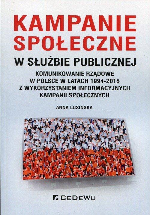 Kampanie społeczne w służbie publicznej. - okładka książki
