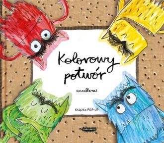 Kolorowy potwór. Książka Pop-up - okładka książki