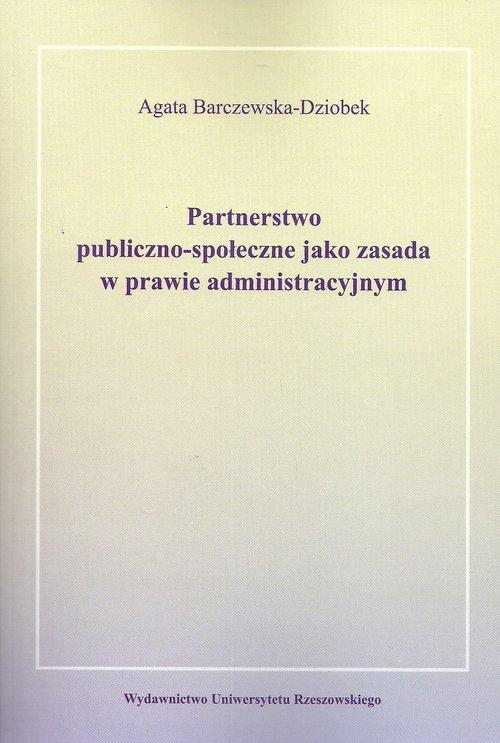 Partnerstwo publiczno-społeczne - okładka książki