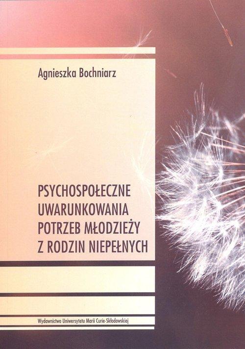 Psychospołeczne uwarunkowania potrzeb - okładka książki