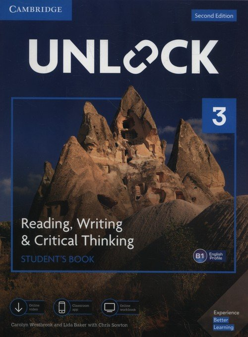 Unlock 3 Reading, Writing, & Critical - okładka podręcznika
