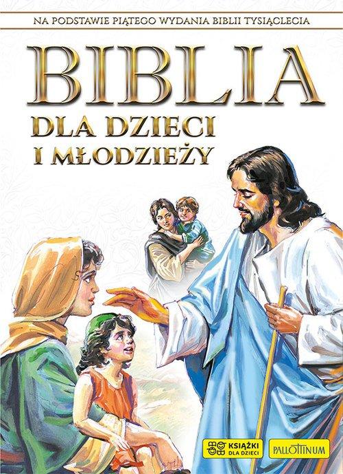 Biblia dla dzieci i młodzieży - okładka książki