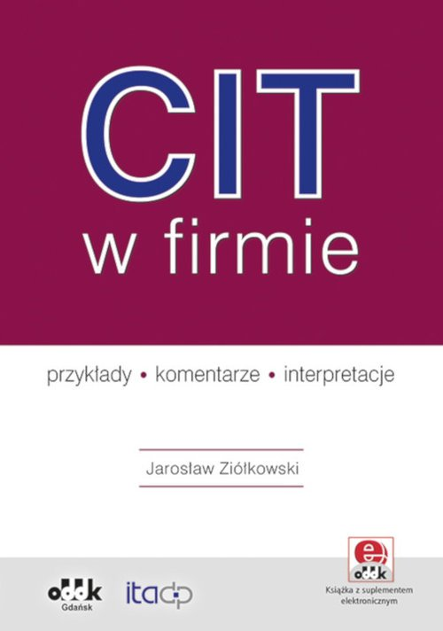 CIT w firmie - przykłady - komentarze - okładka książki