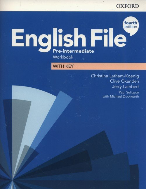 English File Pre-Intermediate Workbook - okładka podręcznika