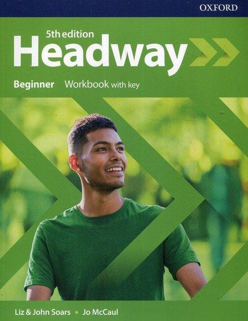 Headway 5E Beginner WB + key OXFORD - okładka podręcznika