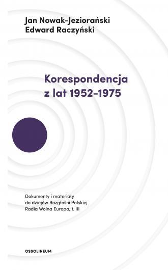 Korespondencja z lat 1952-1975. - okładka książki