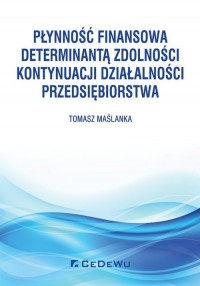 Płynność finansowa determinantą - okładka książki