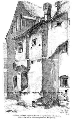 Budowle rozebrane z gmachu Biblioteki - zdjęcie reprintu, mapy