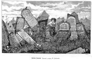 Cmentarz żydowski - zdjęcie reprintu, mapy