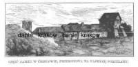 Część Zamku w Ćmielowie, przerobiona na fabrykę porcelany - zdjęcie reprintu, mapy