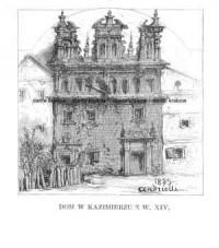 Dom w Kazimierzu z w. XIV - zdjęcie reprintu, mapy