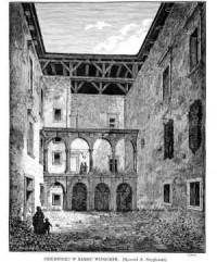 Dziedziniec w Zamku Wiśnickim - zdjęcie reprintu, mapy