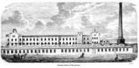 Fabryka płótna w Żyrardowie - zdjęcie reprintu, mapy