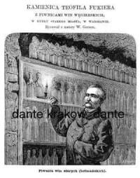 Kamienica Teofila Fukiera z piwnicami win węgierskich, w Rynku Starego Miasta, w Warszawie. Piwnica win starych (hetmańskich) - zdjęcie reprintu, mapy